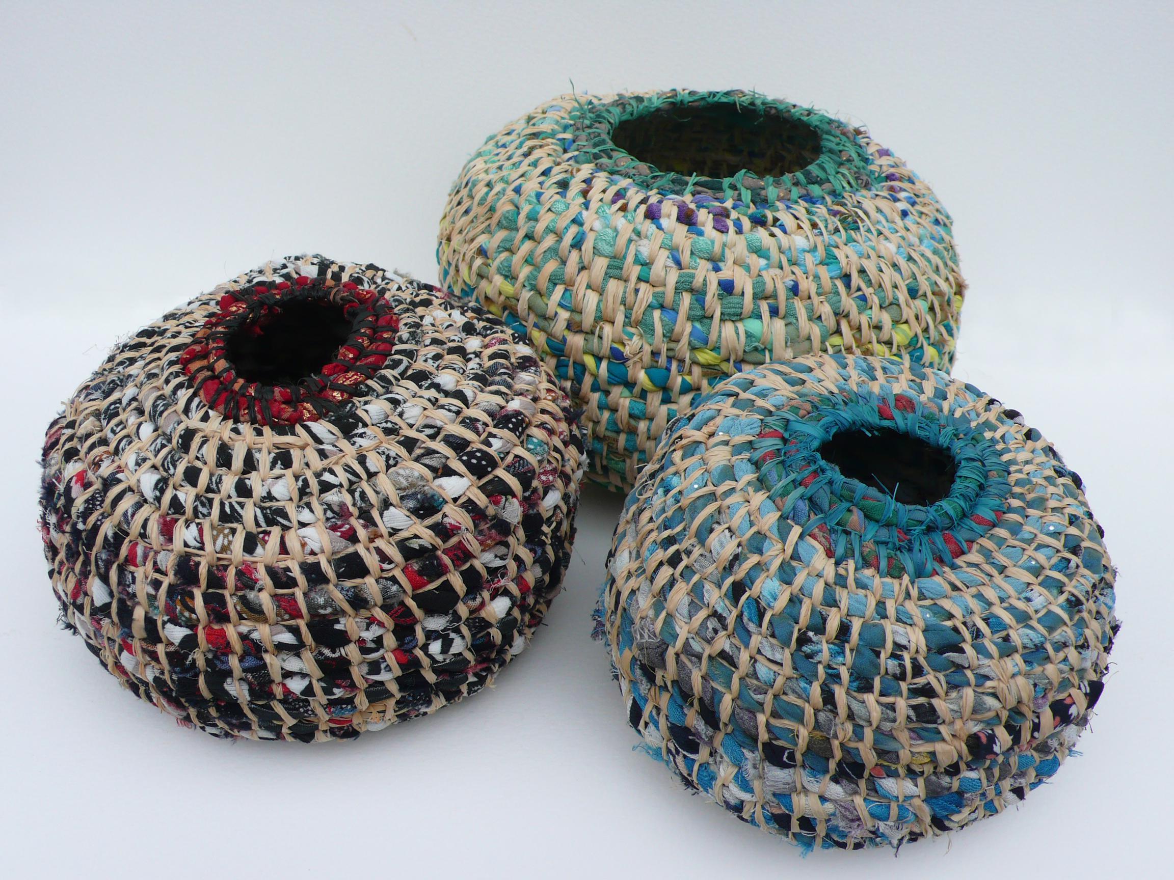 Trio of Pod Baskets